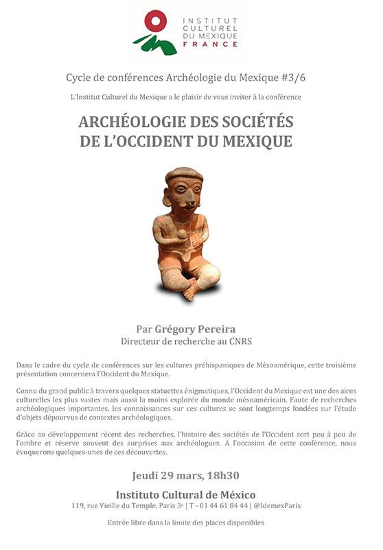 Archéologie des sociétés de l'occident du Mexique