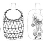 """Fardo funéraire avec tête postiche provenant de la nécropole """"Quebrada Huaquerones"""" où les contextes funéraires étaient associés à la céramique Ychsma récente B et Inca. L'image montre les diverses couches du fardo © Cock et Goycochea 2004"""""""