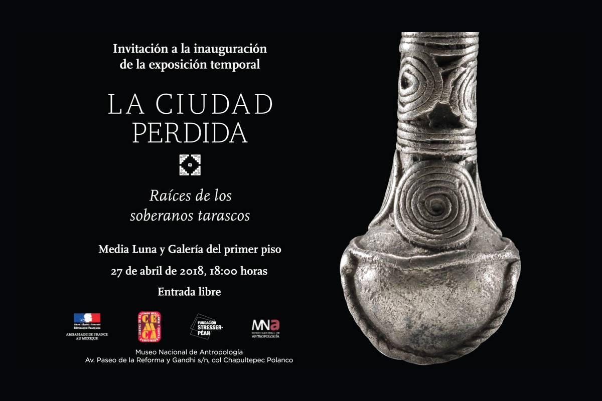 """Exposition temporaire """"La ciudad perdida. Raíces de los soberanos tarascos"""" au MNA à Mexico"""