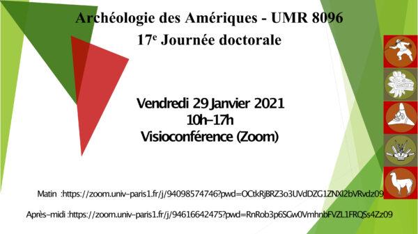 Journée doctorale d'ArchAm